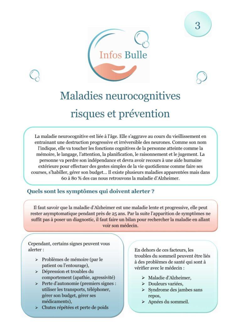 Maladies neurocognitives risques et prévention
